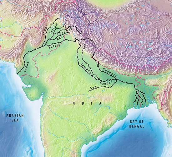 Indus River On A World Map.Changing The Course Of Rivers And History Oceanus Magazine