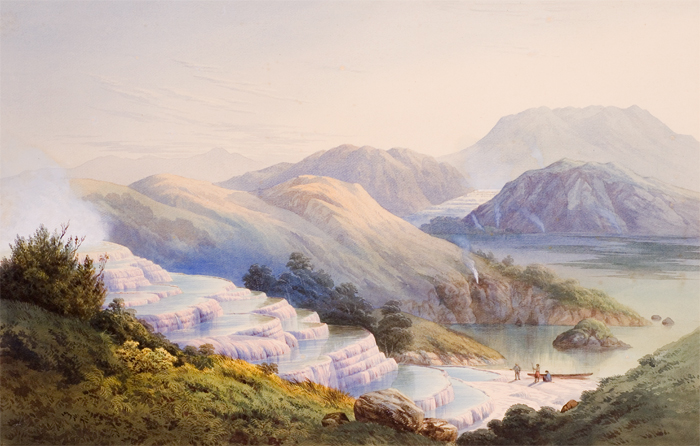 painting of Pink & White Terraces