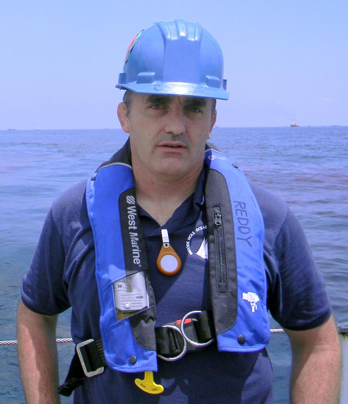 Chris Reddy near Deepwater Horizon