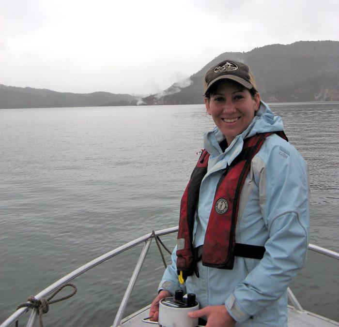 Amy Kukulya on Lake Rotomahana