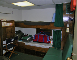 bunks in a room on R/V Oceanus