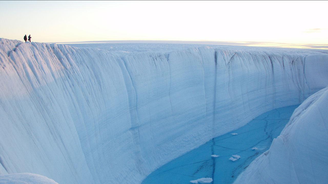 Greenland crevasse