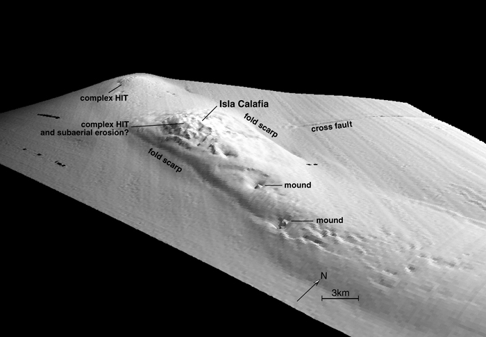 Ed Keller, a scientist at the University of California, Santa Barbara, looked at sonar maps collected by the Monterrey Bay Aquarium Research Institute and first noticed mysterious mounds poking out of the seafloor off Santa Barbara. He offered theories of what they were in a paper published in 2007.