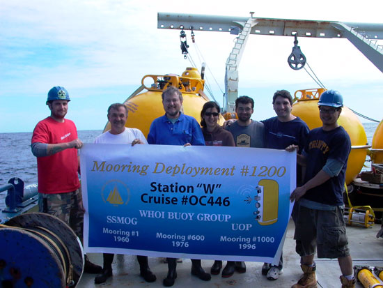 Buoy group members celebrate mooring #1200