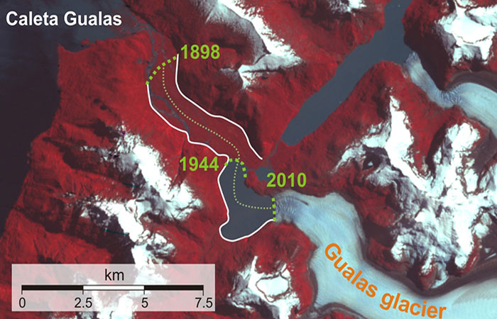 The Retreat of the Gualas Glacier