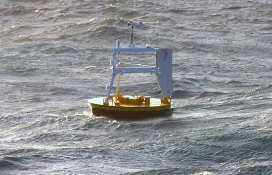 Researchers tested a experimental buoy that they hoped could withstand fierce winter winds and waves in the Irminger Sea.