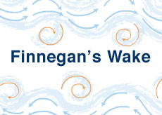 The tiny tornadoes of water in Finnegan's wake