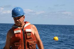 Scott Worrilow on ship