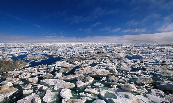 Pack ice in the Beaufort Sea