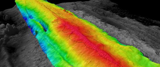 lava flow sonar image
