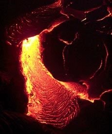 Pu?u Oo eruption on Kilauea