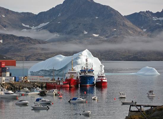 port of Tasiilaq, East Greenland