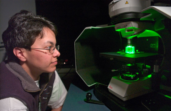 Sheri White to develop a laser Raman spectrometers