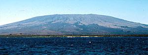 Cerro Azul volcano on Isabela Island