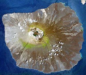 LANDSAT image of Fernandina volcano
