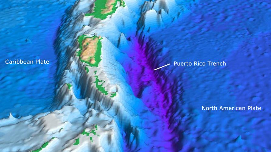 Где находится пуэрто рико желоб