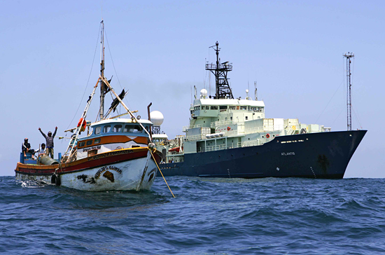 atlantis aids fishing vessel