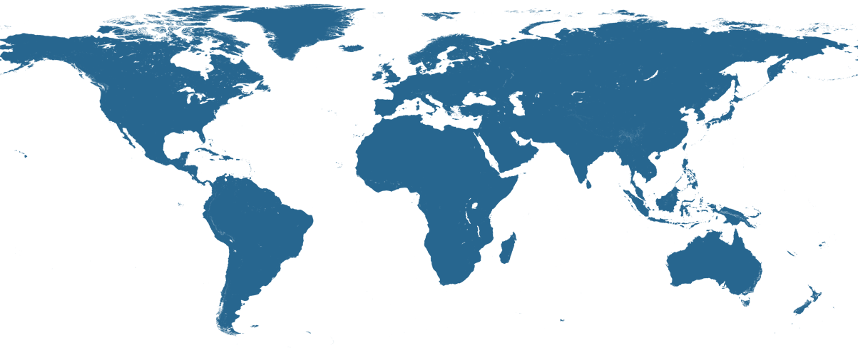 Map of where WHOI works