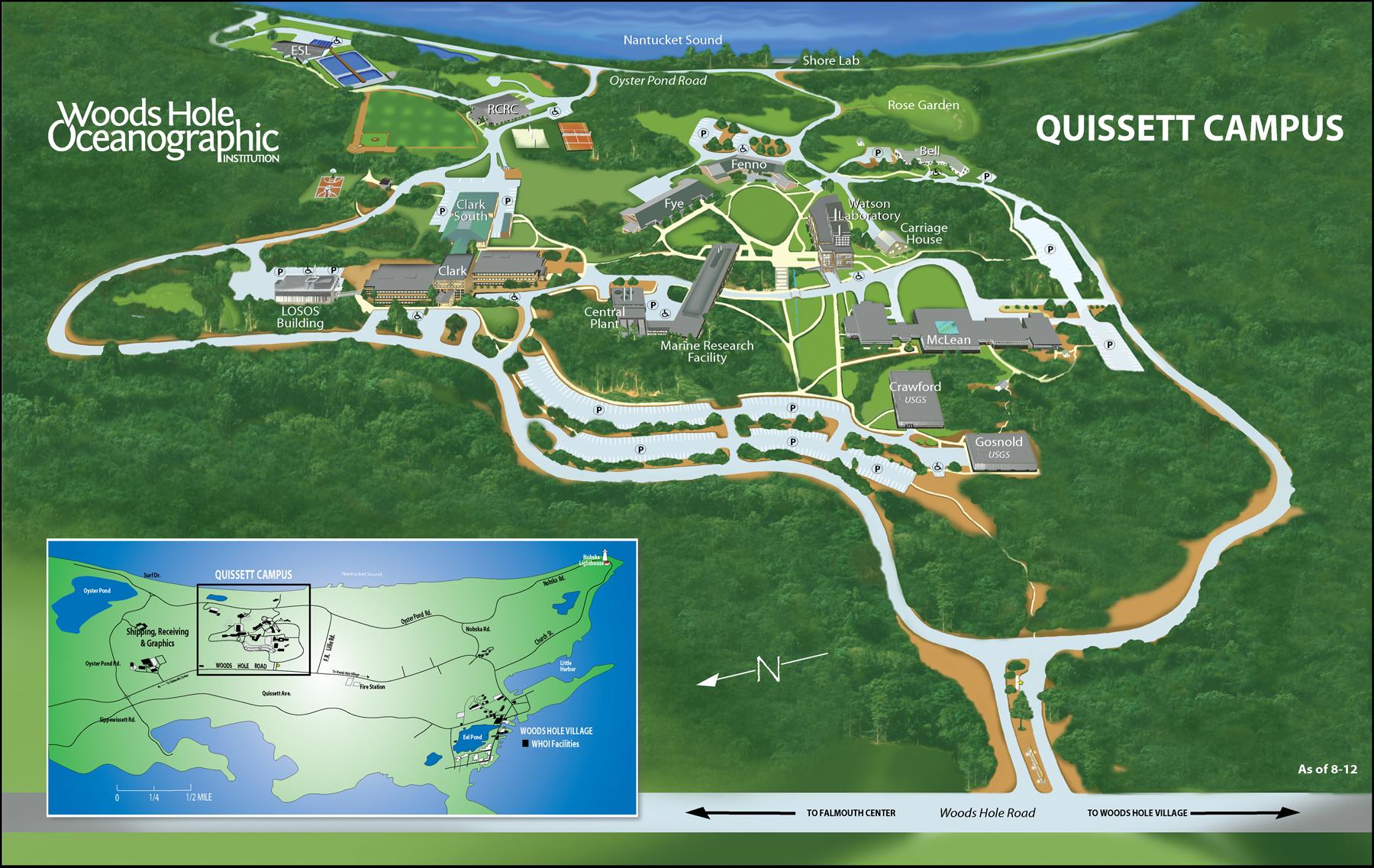 Quissett Campus Woods Hole Oceanographic Institution - Oceanographic map
