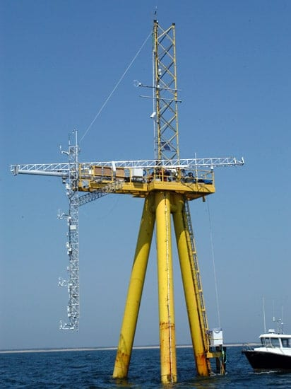 The Air Sea Interaction Tower is linked to the MVCO