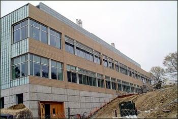 south elevation of the Biogeochemistry Building