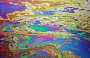 While Oil Gently Seeps from the Seafloor