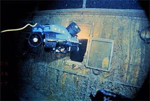 the hull o fthe Titanic
