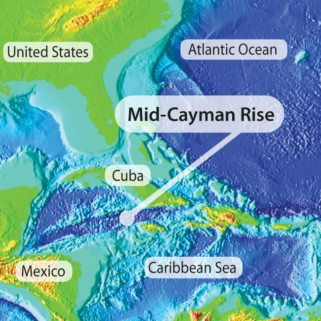 Mid Cayman Rise Map