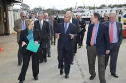 Mass. Governor Deval Patrick Makes First Visit to WHOI
