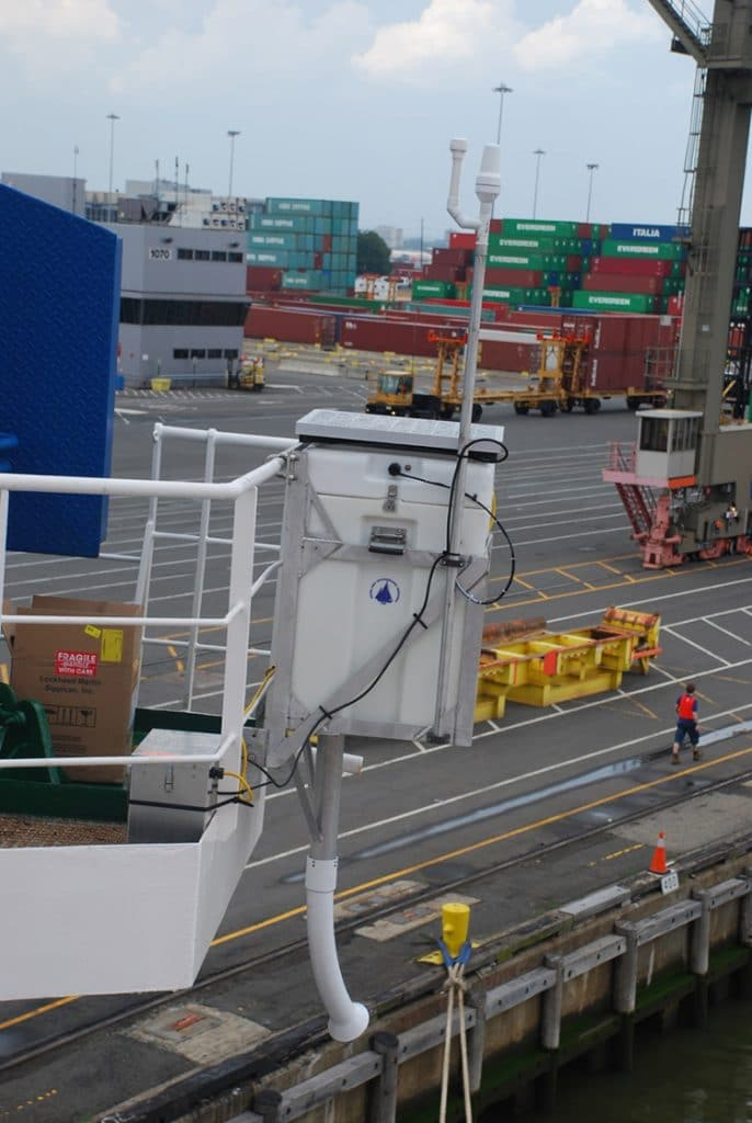 AXIS on ship