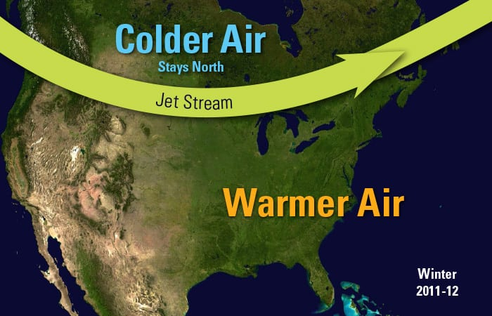 Jet Stream Gets Fish In Hot Water Woods Hole Oceanographic Institution - Current-us-jetstream-map