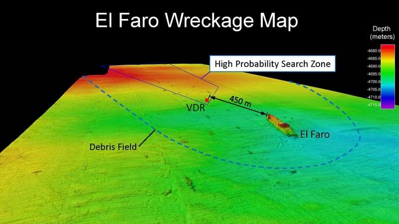 Map of El Faro Wreck Site