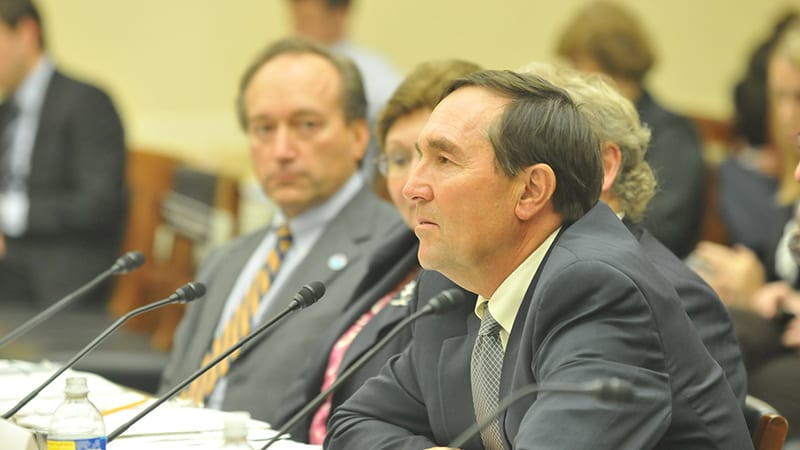 Anderson testifying before Congress