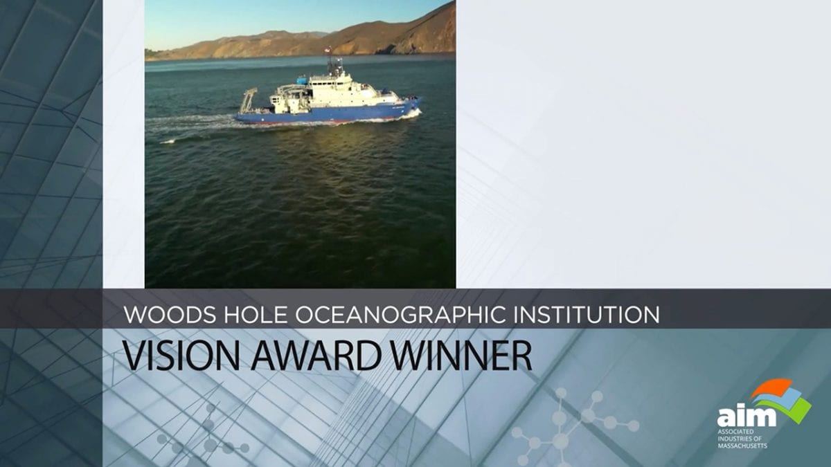 Woods Hole Oceanographic Institution Honored by  Associated Industries of Massachusetts