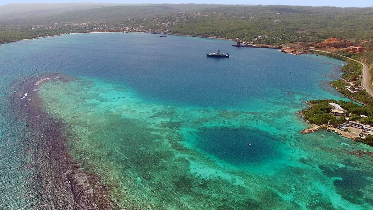 Blue Holes and Hurricanes