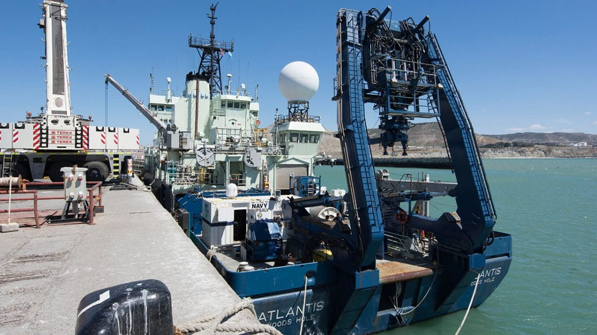 WHOI Ship Atlantis Launches New Mission to Find Missing Argentinian Submarine