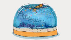 Tracking a Snow Globe of Microplastics