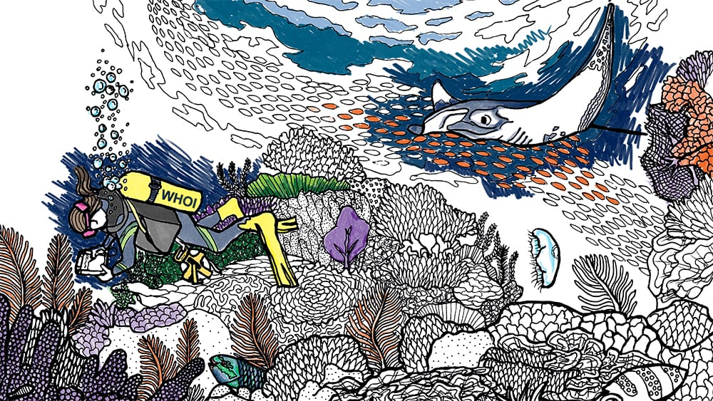 Shallow Coral Reefs Coloring Page