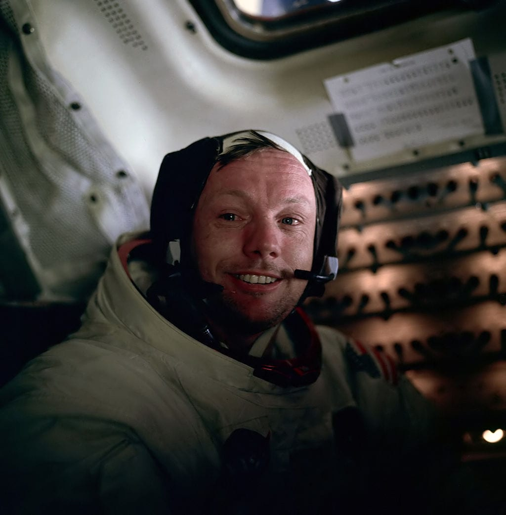 Neil Armstrong photographed by Buzz Aldrin after the completion of the Lunar EVA on the Apollo 11 flight. (NASA)