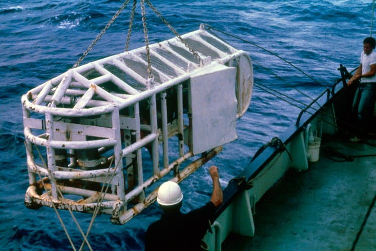ANGUS was the first unmanned search and survey system developed by the Woods Hole Oceanographic Institution in the mid 1970s