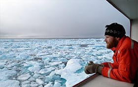 """brash ice,"" in the Arctic Ocean in summer (Photo by Chris Linder, Woods Hole Oceanographic Institution)"