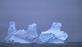 Arctic iceberg in the North Atlantic.