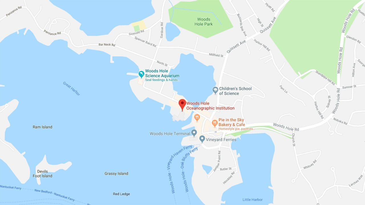 Map of Woods Hole
