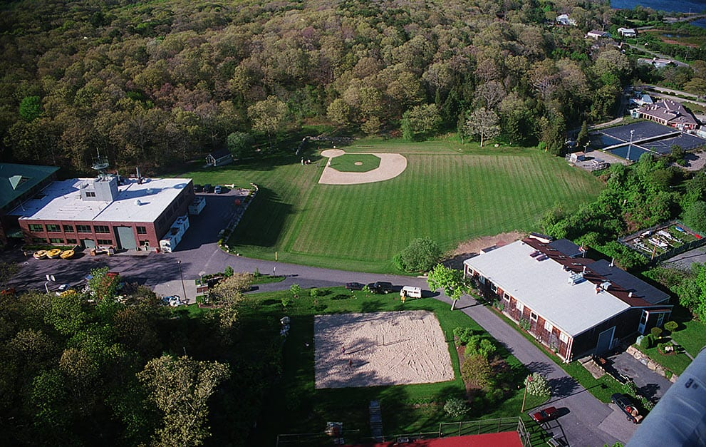 Facilities on located on WHOI's Quissett Campus include a ballfield and sand volleyball and tennis courts.