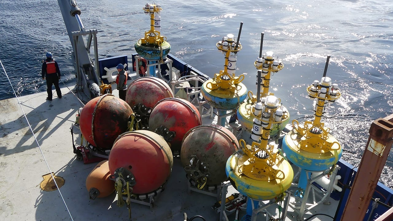 WHOI moorings and buoys