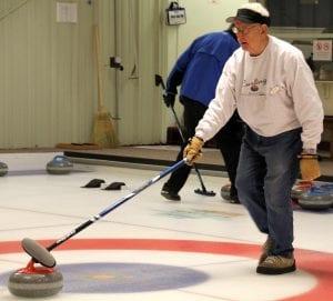 Ralph Vacarro curling.
