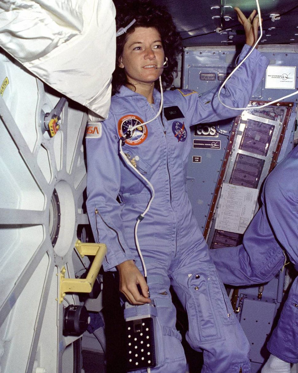 Sally Ride made history, becoming the first American woman to go space.  (Image credit: NASA)