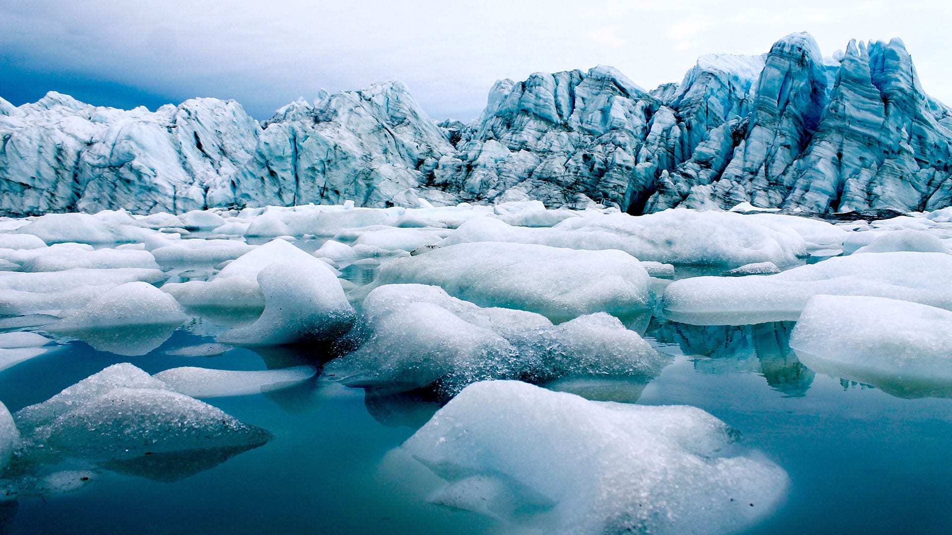 Summertime ice melt along the Greenland Ice Sheet has sped up in recent decades, causing more fresh water to flow into the surrounding ocean. The fresh water carries nutrients and organic carbon, which can affect the growth rates of marine microbes. MIT-WHOI Joint Program graduate student Matt Osman and WHOI associate scientist Sarah Das, along with scientists from the University of Alberta, are studying the rates at which microbes living in these ocean waters metabolize and grow in order to determine how future melting may affect ecosystems and carbon storage in the ocean. (Photo by Matt Osman, Woods Hole Oceanographic Institution)