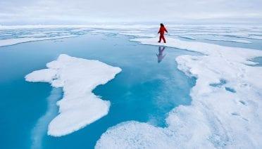 Walking on polar ice