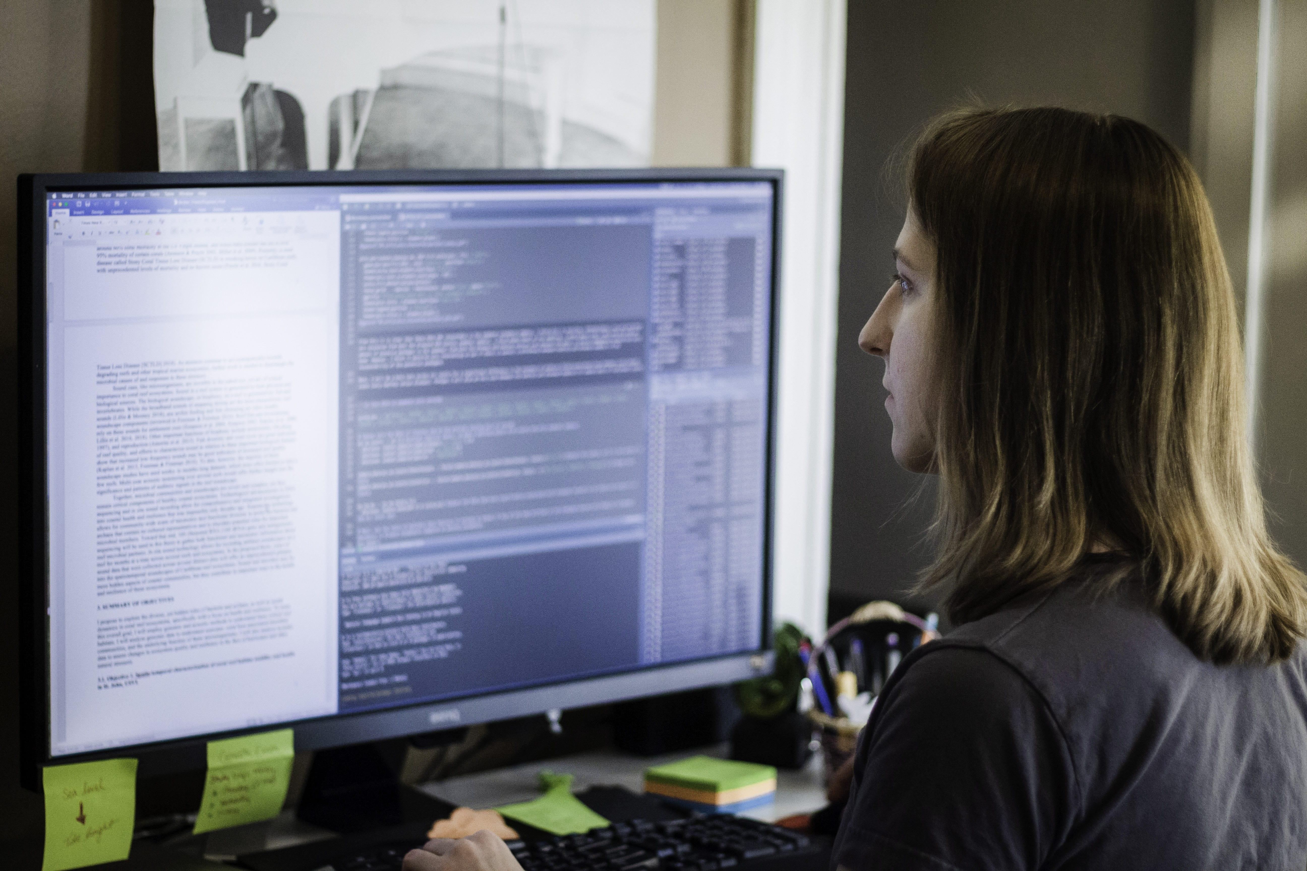 Becker at Computer